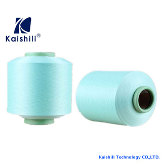 Polyester Single Spandex Covered Yarn SCY 3075 For Knitting Supplier