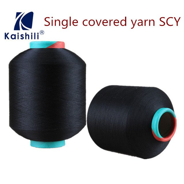 SCY 40100 Polyester Covered Spandex Yarn for Socks in Korea