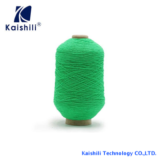 China Manufacturer Polyester Rubber Covered Yarn for Socks Knitting with AA Grade