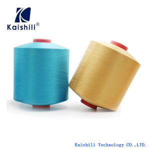 High Quality Polyester Single Spandex Covered Yarn 3075/36F for Socks Production from China
