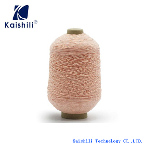China Supplier 120#/75/75 Polyester Rubber Covered Yarn for Socks Production